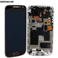 ORIWHIZ atacado-azul tela lcd para samsung galaxy s4 mini i9192 display lcd touch screen com frame