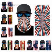 Neue Halloween-Maske Multifunktions nahtlose Magie Schal der Nationalflagge Schal Sport Piratenhut Parteischablone T2C5032 Maske