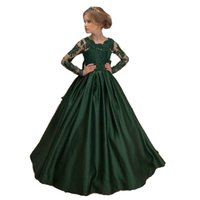 appliques princess flower girl' s dress green girls page...
