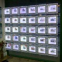 (3unit / colonne) A3 simple Bureau latéral affiche la fenêtre de détail, Led propriété fenêtre pour ma Affiche Agent immobilier
