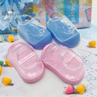 100PCS Acrylic Baby Booties Candy Box Baby Shower Baptism Pa...