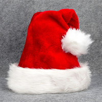 Plush Christmas Hat with Big Ball High Quality Santa Hat for...