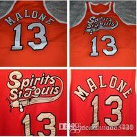Özel Erkekler Gençlik kadınlar St Louis Koleji Basketbol Jersey Boyut S-4XL Nadir # 13 Moses Malone Ruh veya özel herhangi bir ad veya numara forması