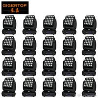 TIPTOP 20pcs Bühneneffekt 5x5 25 LED-Matrix bewegliches Hauptlicht 25x10w dmx
