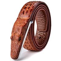 Mens di marca cinghie designer di cuoio di lusso degli uomini della cinghia di alta qualità Cintura Homme Crocodile Cinturones Hombre 2018 B2