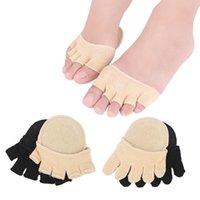 Fünf Finger Socken mit sichtbaren Zehen Stealth kurze Zehen Hälfte Socken für Damen Fersen Relief Massieren Pads Fußpflege Einlegesohlen