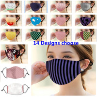 14 Designs Printed Face Mask Cotton Mouth Mask Dustproof And Smog Protective mask PM2.5 HH9-3020