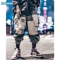 Pantalones para hombres Ropa Ropa Patchwork Bolsillos Cargo Hombres Harajuku Hip Hop Hombre Sweetpant Male Joggers Track Planchas Streetwear Michalkova