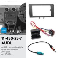 Ugar 11-450 Faszien-Kit / Fascia-Rahmen + ISO-Harness + Antennenadapter für Audi A3 (8P / mit Symphonie-OEM-Ugar-Radio-Installation) 2003-2008; A3.