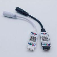 Беспроводной мини RGB контроллер Bluetooth постоянного тока 5В 12В 24В мини музыка Bluetooth регулятор света прокладки Сид RGBW контроллер для RGB светодиодные полосы