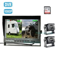 Dual Backup Cameras Kit with DVR, 2 x AHD 1080P 4Pin Car Fron...