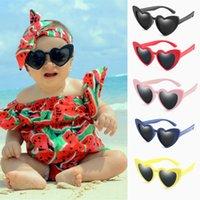 إطار جديد للأطفال TR90 الحب القلب النظارات الشمسية الاطفال المستقطبة نظارات شمسية بنين بنات نظارات سلامة الطفل مرنة نظارات