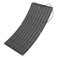 블랙 ETFE 태양 전지 패널 100W 세미 플렉시블 패널 태양 광 12V 배터리 충전기 홈 에너지 시스템 키트
