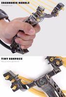 2 고무 밴드 접는 손목 슬링 샷 투석기 야외 게임 장비 강력한 사냥 화살표 도구 사냥 슬링 샷