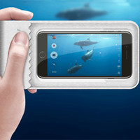 PU su geçirmez telefon kılıfı plaj su sporları yüzmek 30 M sualtı mobil kuru çanta M / L kordon ile