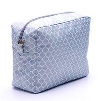 대형 Quatrefoil 화장품 케이스 도매 공백 사용자 정의 엄마 메이크업 가방 기저귀 가방 선물 그녀의 무료 배송 DOM106123