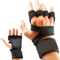 Тяжелая атлетика Фитнес Перчатки Gel Полный Палм защиты Gym Workout Протектор перчатки Женщины Мужчины Обучение питания Подъемное оборудование