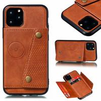 Luxuxmappen PU-Leder-Schlag-Silikon-Telefon-Kasten für Iphone 11 Pro Max XS X XR 7 8 6 6s Plus Card Slot-Halter-Abdeckung