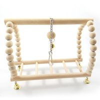 Parrot Swing Raw Wood Color Suspension Bridge Escaleras Parrot Toys Bird Toys 79g