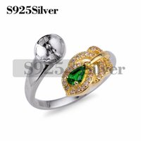 Green Zircon Gorgeous Ring Pearl Mounts Golden Leaf Ring DIY...