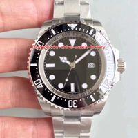 2 Color vendedor caliente movimiento V9 versión perfecta de acero 904L 44mm CAL.3135 relojes del reloj D-116660 Azul Sea-Dweller cerámica para hombre automático