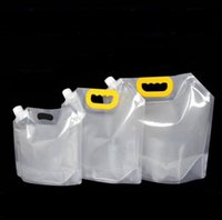 1.5 / 2.5 / 5L موقف متابعة الشراب بلاستيك التغليف حقيبة صنبور الحقيبة لالبيرة المشروبات السائلة عصير الحليب القهوة DIY التعبئة حقيبة SN4395