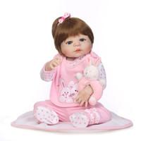 Vinile completo in silicone Bebe Reborn Baby Girl Realistic Alive Neonati Bambola Reborn Adorabile Realistico Bambino Bambino Giocattoli per bambini