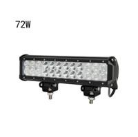 """2st 12 """"72W Cree LED Work Light Bar 7200LM 24PCS 3W Cree Vattentät för Jeep Off Road Van ATV SUV 4WD 4x4 Pickup"""