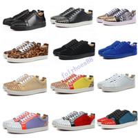 Zapatillas de deporte de gamuza de gamuza baja de zapatos de zapatos para hombres y mujeres zapatos para hombres y mujeres zapatillas de cuero de cuero de cristal de la boda