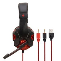 Deep Bass Jogo Headphone Stereo Over-Ear Gaming Headset Headband fone de ouvido com a Light para computador PC Gamer
