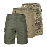 Männer Tourismus Wandern Shorts Quick Dry Große Multi Pocket lose Outdoor-Klettern Trainings Tactical Camouflage Cargo Shorts Hosen