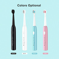 4 Yedek Fırça Başlıkları Ultrasonik Elektronik Beyazlatma Diş Fırçası 4 Renk ile güçlü Sonic Elektrikli Diş Fırçası Şarj edilebilir DHL