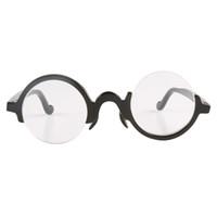 Ímpar assimétrico meia rodada semicírculo arco búfalo chifre quadro semi-rim óculos de leitura óculos óptico óculos de sol