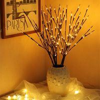 LED String Light Willow Filial Lâmpada 20Bulbs Ramos Galho Vaso Vaso Floral Árvore Luzes de Fadas Bateria Alimentado para Festa Partido Casamento Casa Decoração