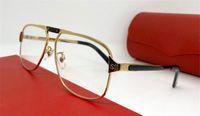 Le nouveau concepteur de la mode des lunettes optiques 0102 style rétro simple cadre carré lentilles transparentes peuvent être équipés de lunettes de boîte