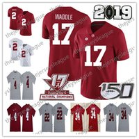 2019 Alabama Crimson Tide 150º # 17 Jaylen Waddle 6 Devonta Smith 8 Julio Jones 92 Quinnen Williams 72 26 rápida Sanders Jersey Fútbol