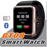 GT08 Smartwatch مع فتحة لبطاقة SIM Android ساعة ذكية لسامسونج و IOS Apple iphone Smartphone Bracelet ساعات بلوتوث