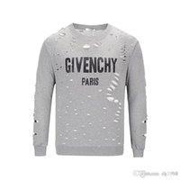 18SS hiver Europe giv Paris Stars Fan Made Fashion Hommes Luxe Blanc Rouge Noir Trou Cassé Sweat Casual Femmes PARAM ENDOUÉ PARKA Hood