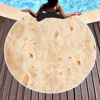 Ronda de la crepe toalla de playa Yoga Mat poliéster combinado mexicano rollo Mantel abrigo del mantón de microfibra toalla de baño de picnic Alfombra Tapiz VT1779