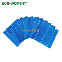 Freeshipping 10pcs 16.8 % 효율 DIY 40w 태양 전지 패널에 대 한 6 x 6 폴 리 결정질 태양 전지 *!