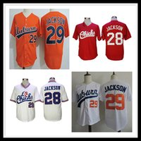 1986 Retro Memphis Chicks 28 Bo Jackson Baseball Jersey rot weiß orange genäht B.Jackson College Baseball Shirts Männer billig