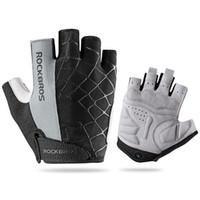 Велосипедные перчатки Велосипедная амортизирующая накладка Против скольжения Половина пальцев Поднятие тяжестей Велосипедные перчатки Перчатки для тренировок Альпинистская защита для тренировок