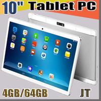 "JT 10"" 10 inç MTK6580 MTK6592 Octa Çekirdek 1.5GHz Android 6.0 3G Telefon Görüşmesi tablet pc bluetooth Wifi Çift Kamera 4GB / 64GB G-10PB GPS"