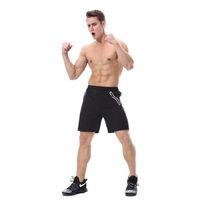 Mens Pantaloncini da corsa estate Bodybuilding Sport Fitness Workout pantaloni della tuta riflettente Zipper corto maschile Gym Shorts