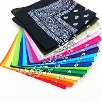 lenço de alta qualidade 1PC Unisex Bandana Hip Hop Preto Paisley Headwear Faixa de Cabelo lenço da garganta de pulso Enrole Banda Headtie Praça