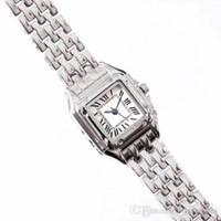 Hochwertige Mode Dame Frauen Uhren kleiden Suqare Volledelstahlband beiläufige Quarz Zifferblatt Uhr für laides Mädchen weibliches beste Geschenk