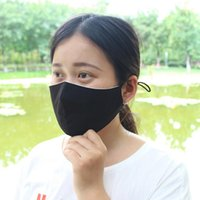 Black Cotton Mask Adults Kids Washable Mouth Masks Anti Dust...