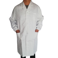 Women Men Unisex Lab Coat With Pockets Long Sleeve White Out...