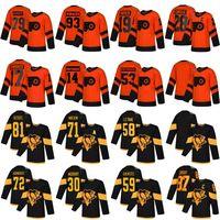 2019 Stadio Serie Pittsburgh Penguins Philadelphia Flyers Hockey maglie 87 Sidney Crosby 71 Evgeni Malkin 28 Claude Giroux 79 Carter Hart