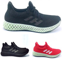 2019 Futurecraft 4D Zapatos para correr para hombres Mujeres Ash Green Triple Black White Red Mens Designer Trainer Sport Sneaker Size 38-47